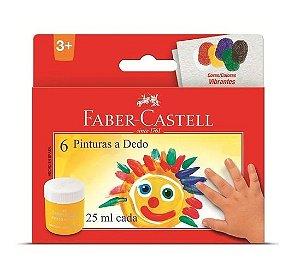 Pintura a Dedo 25ml Com 6 Cores Faber Castell