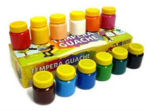 Tinta Guache  Com 12 Cores 15ml Acrilex