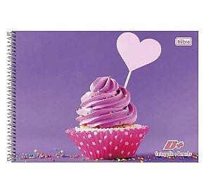 Caderno de Cartografia e Desenho Espiral Capa Dura D+ Feminino 96 Folhas Tilibra