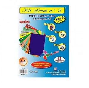 Kit Leoni Papéis Escolares A4 NR 2 -C/62 folhas Leoni
