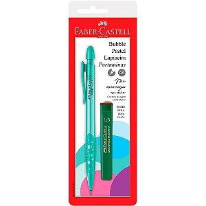 Lapiseira Bubble Pastel 0.5 Verde Com Grafite Faber-Castell