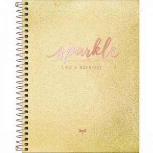 Caderno Espiral Colegial Sparkle 1 Matéria 80fls Tilibra
