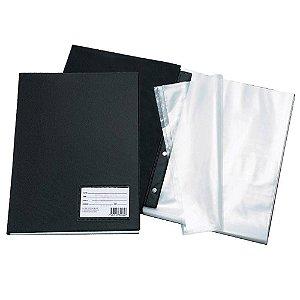 Pasta Catálogo c/ 50 Envelopes Ofício PP Fino C/ Visor