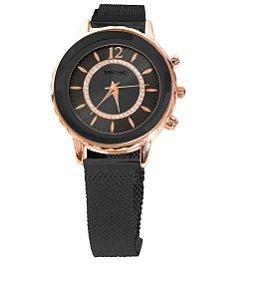 Relógio Quartz Preto Santino R.SAR1U01