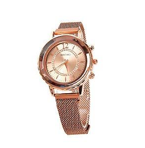 Relógio Quartz Dourado Santino R.SAR1U34