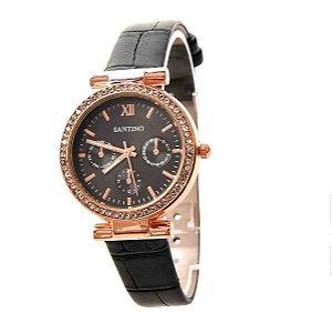 Relógio Quartz Preto Santino R.SAR5U01