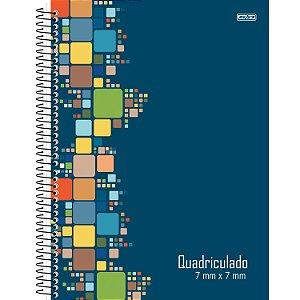 Caderno Universitário Capa Dura 80fls Quadriculado 7x7m São Domingos