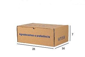 Caixa de Papelão para envio Correio  Kraft 21x14x7CM