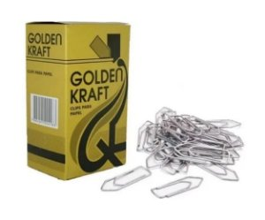 Clips Para Papel Galvanizado N.2 Caixa C/ 500g Golden Kraft