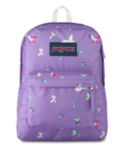 Mochila Jansport Superbreak Purple Dawn Buterfly Kisses