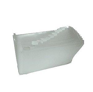 Pasta Sanfonada Plástica A4 Transparente C/31 divisórias Plascony