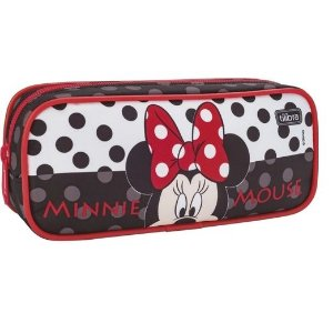 Estojo Escolar Grande Minnie Mouse Tilibra