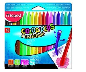 Giz escolar colorido plástico Color Peps Maped