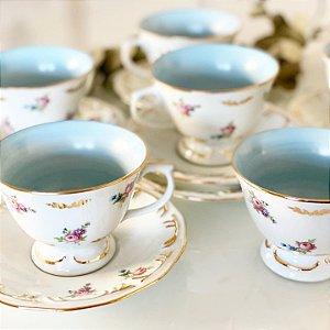 Jogo Xícaras Chá Royal