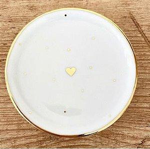 Pratinho 8cm Mini Coração Ouro