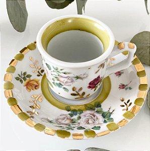 Xícara Café Jardim Pistache