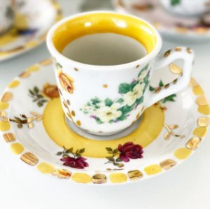 Xícara Café Jardim Amarelo 2