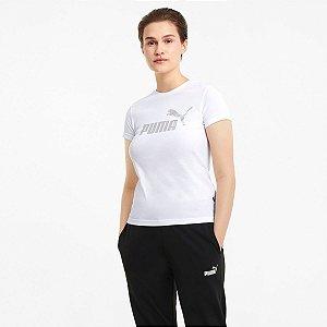 Camiseta Puma Essentials+ Metallic Logo Tee