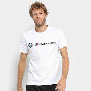 Camiseta Puma Bmw Motorsport Logo Masculina - Branco