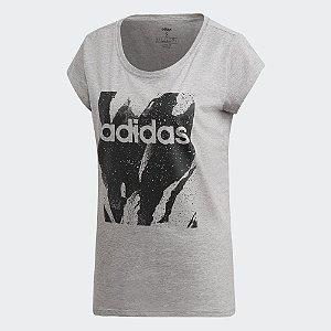 Camiseta Estampada Adidas Essentials - Feminina