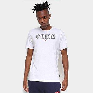 Camiseta Puma Puma Brand Tee Branca