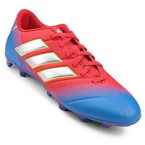 Chuteira Adidas Nemeziz Messi 18.4 Campo Azul