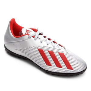 Chuteira Adidas X 19.4 Society Cinza