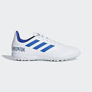 Chuteira Adidas Predator 19.4 Jr Society Branco