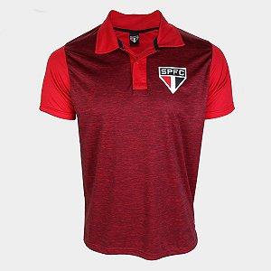 Camisa Polo São Paulo Mescla Masculina