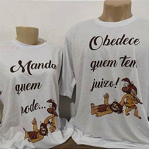 Camiseta Branca P ao G Personalizada + Brinde (Saquinho )