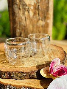 Conjunto 2 Copos de Vidro Para Café com Parede Dupla 80ml - Mimo style
