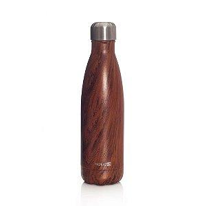 Garrafa Térmica Kouda Inox 500ml Wood - Grey