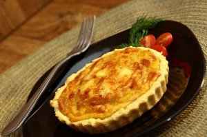 Quiche mini - Alho-poró