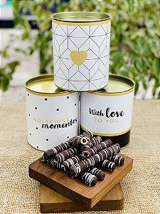 Lata Personalizada com waffle de chocolate | LINHA PREMIUM