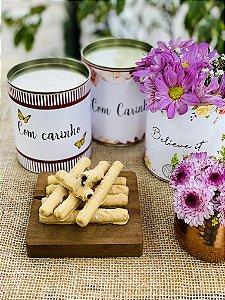 Lata Personalizada com waffle de caramelo e flor de sal | LINHA DIA DAS MÃES