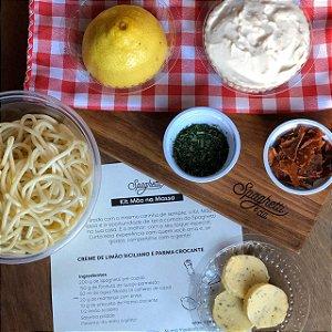 kit creme de limão siciliano e parma crocante