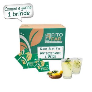 Suchá Slim Fit - Suco E Chá - Antioxidante e Detox - Sabor Limão - 30 sachês ⭐⭐⭐⭐⭐