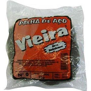 PALHA DE ACO N.0  VIEIRA 25 GR (UND)