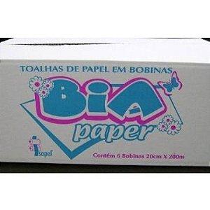 TOALHA BOBINA P/ MÃO EXTRA LUXO BIA (6X20X200MT)