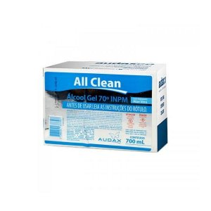 ALCOOL GEL 70° ANTISSÉPTICO REFIL ALL CLEAN AUDAX 700 ML