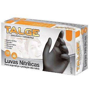 LUVA PRETA NITRILICA ( G ) C/ 100 UND