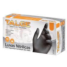 LUVA NITRILICA PRETA (G) C/100 TALGE
