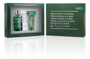Kit Benetton Colors Man Green 100ml + After Shave 75ml