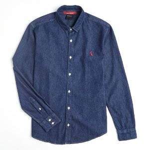 CAMISA CONT. AE EASY OXFORD DENIM ML RESERVA