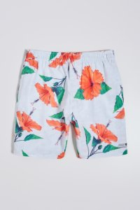 SHORT PRAIA ESTAMPADO HIBISCO COLOR RESERVA