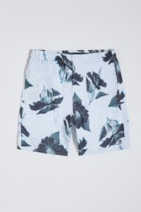 SHORT PRAIA ESTAMPADO HIBISCO BLACK RESERVA