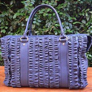 Bolsa Couro Luisa Azul Marinho