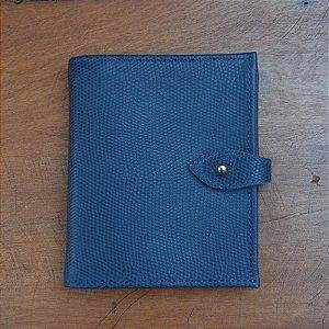 Carteira Couro Lucila Azul Marinho