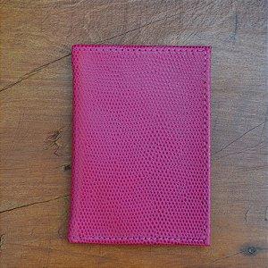 Porta Cartão Couro Pink
