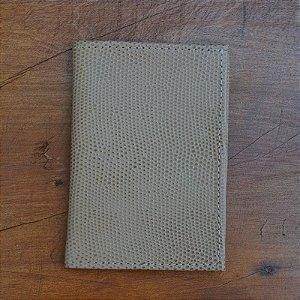 Porta Cartão Couro Nude